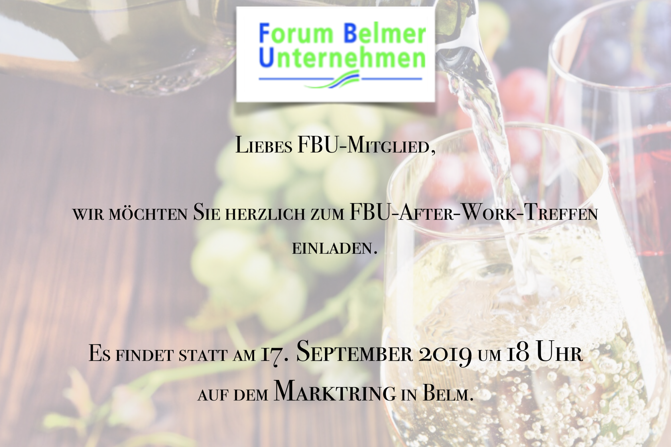FBU After Work Treffen Belm City Forum Beamer Unternehmen